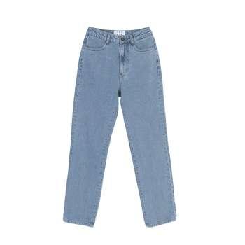 شلوار جین زنانه کوی مدل راسته 137 رنگ آبی روشن