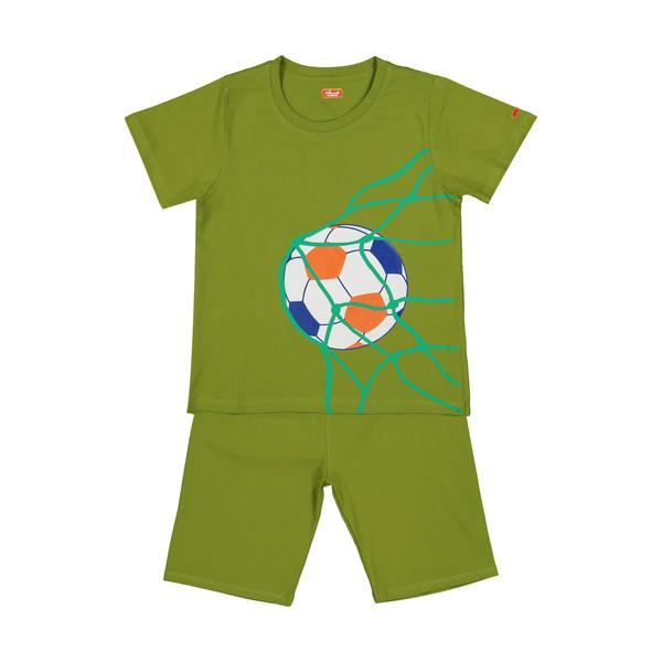 ست تی شرت و شلوارک راحتی پسرانه مادر مدل 2041109-42