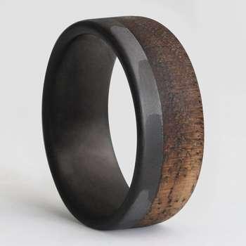 انگشتر مردانه سورئال دیزاین مدل Burnt walnuts