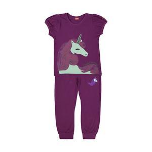 ست تی شرت و شلوار دخترانه مادر مدل 2041104-67