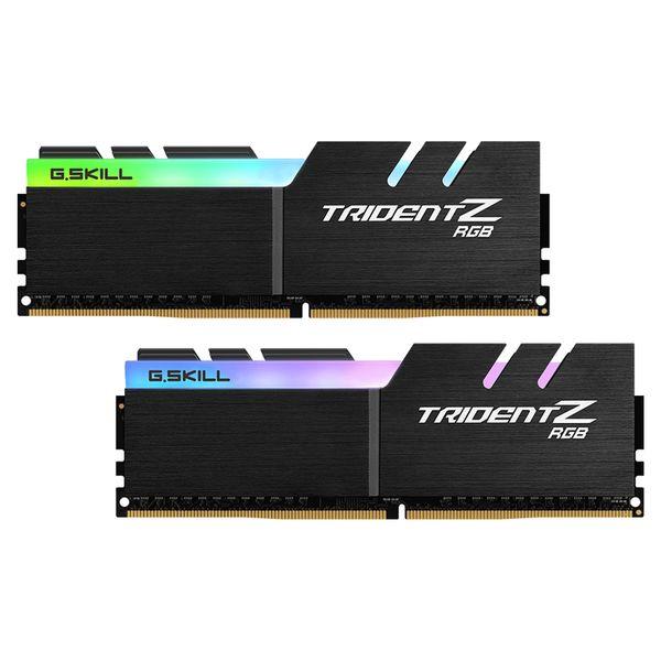 رم دسکتاپ DDR4 دو کاناله 3200 مگاهرتز CL16 جی اسکیل سری TRIDENT Z RGB ظرفیت 32 گیگابایت بسته دو عددی