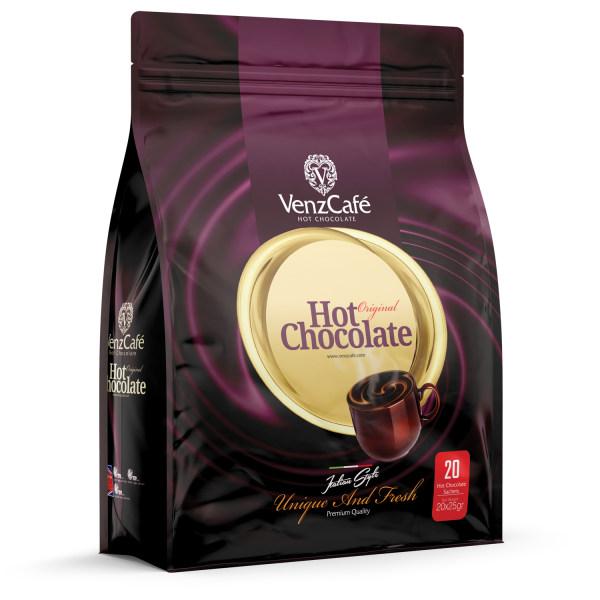 پودر شکلات داغ ونزکافه بسته 20 عددی