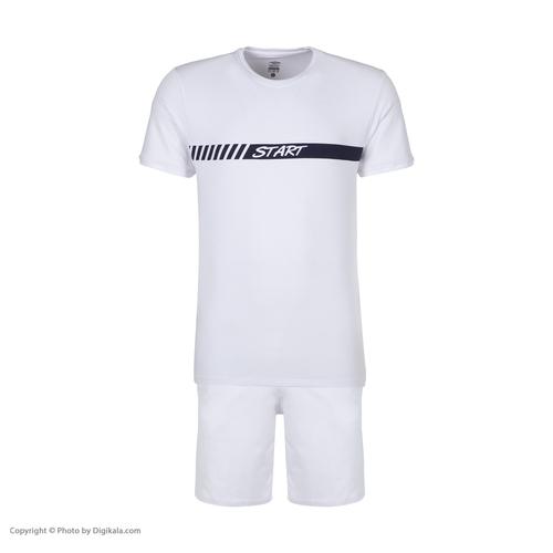 ست تی شرت و شلوارک ورزشی مردانه استارت مدل 2111125-01