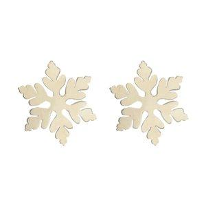 گوشواره نقره زنانه رز گالری طرح دانه برف
