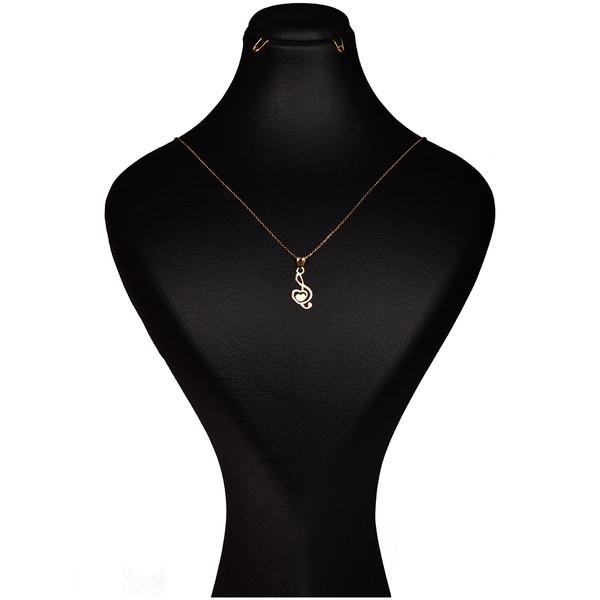 گردنبند طلا 18 عیار زنانه کرابو طرح کلید سل  مدل Kr7009