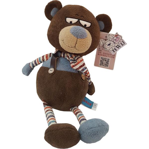 عروسک اچ دبلیو دی طرح خرس کراواتی ارتفاع ۴۰ سانتی متر