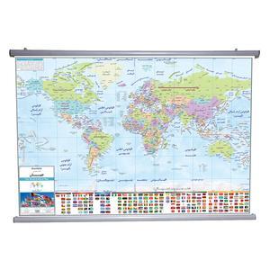 نقشه سیاسی جهان انتشارات ایرانشناسی مدل 1287