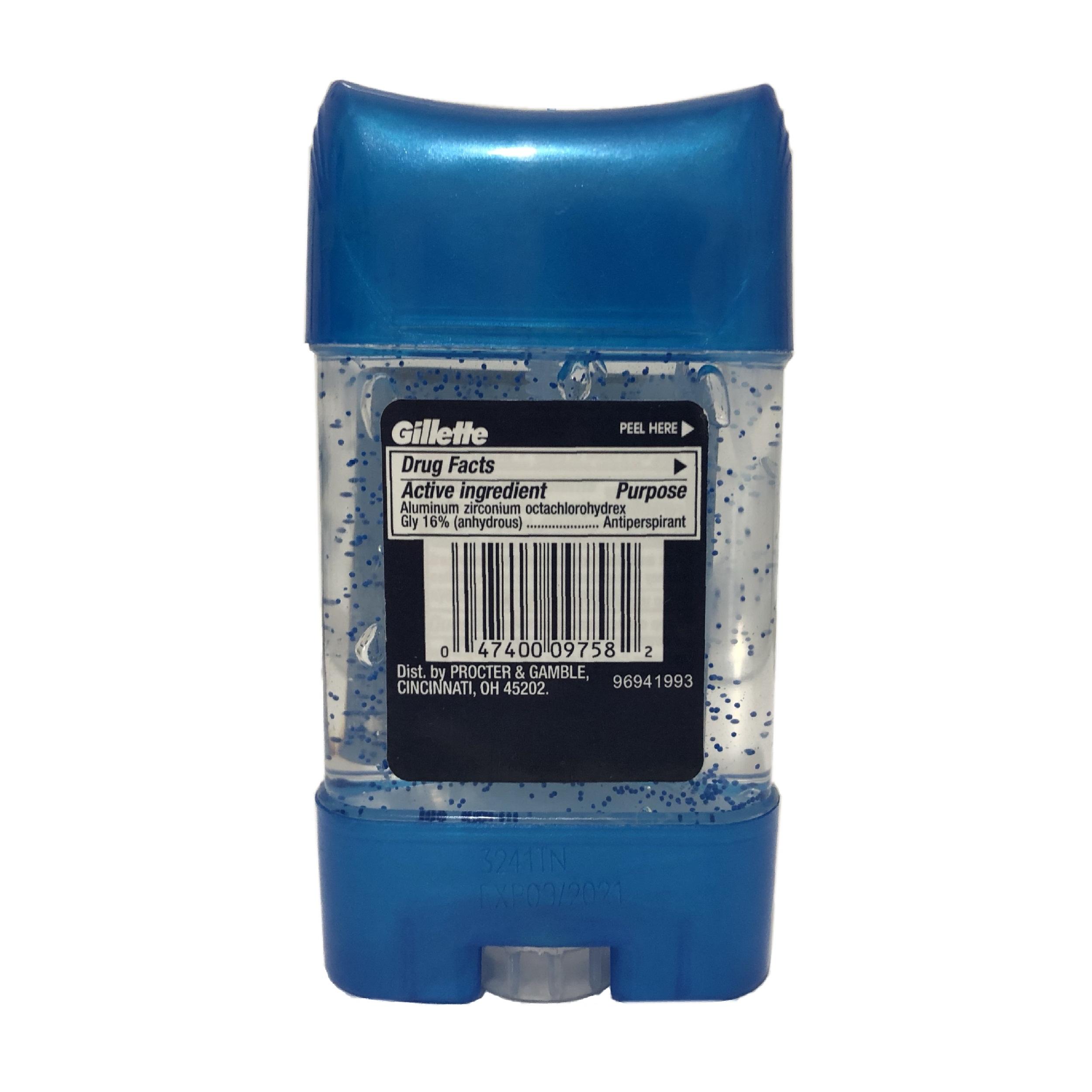 ژل شفاف ضد تعریق مردانه ژیلت مدل Cool Wave وزن 80 گرم
