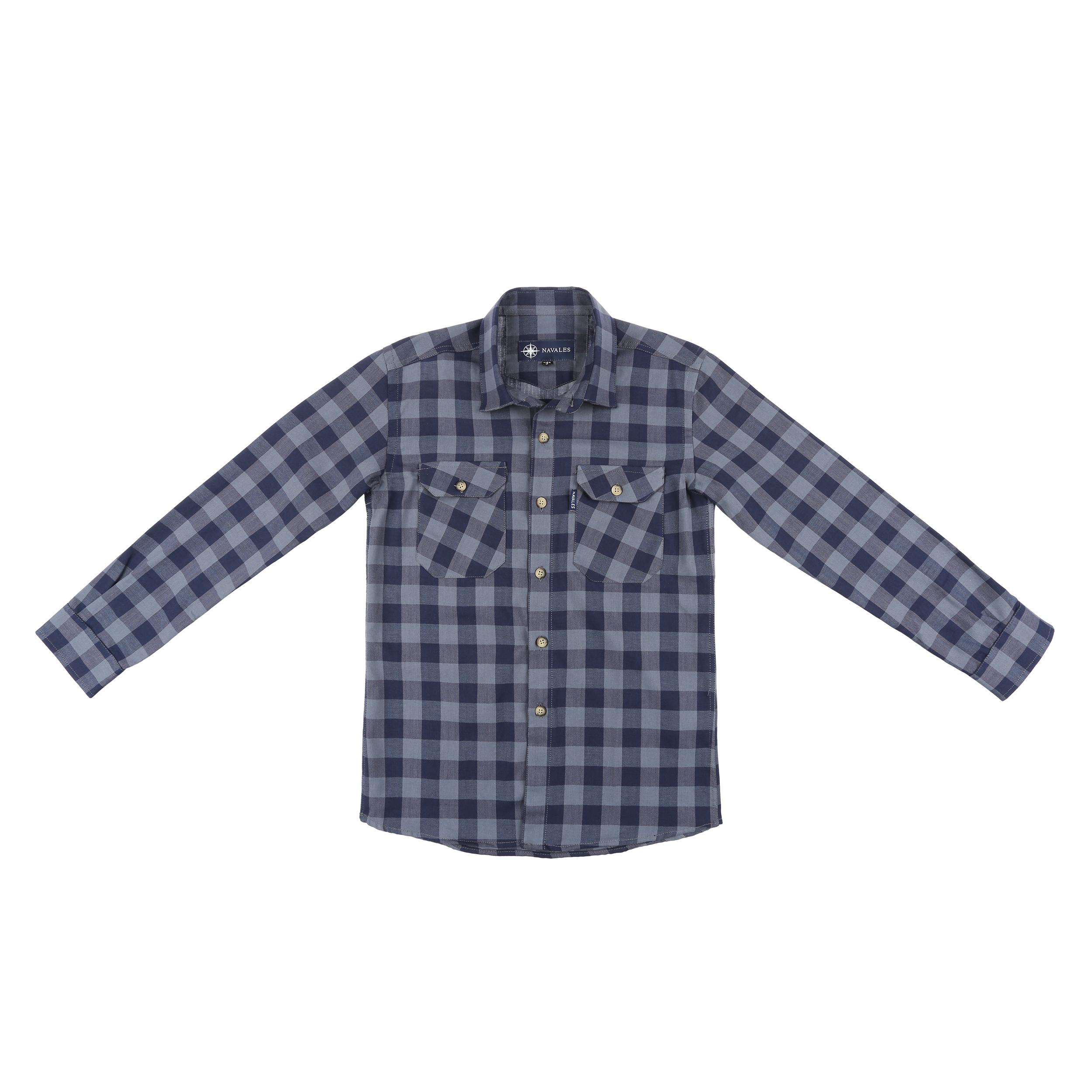 پیراهن پسرانه ناوالس کد D-20119-GY main 1 1