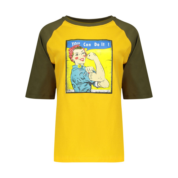 تی شرت آستین کوتاه زنانه پپامدل Queen Bee