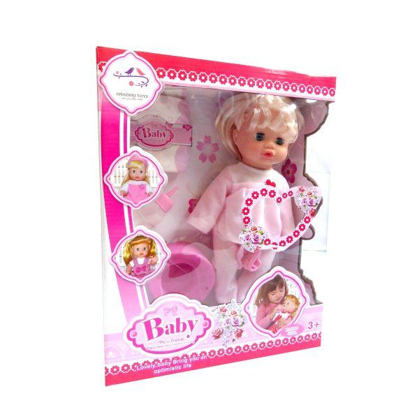 عروسک طرح نوزاد   مدل 508    ارتفاع 33 سانتیمتر