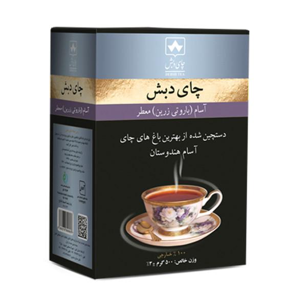 چای آسام باروتی زرین معطر چای دبش - 500 گرم