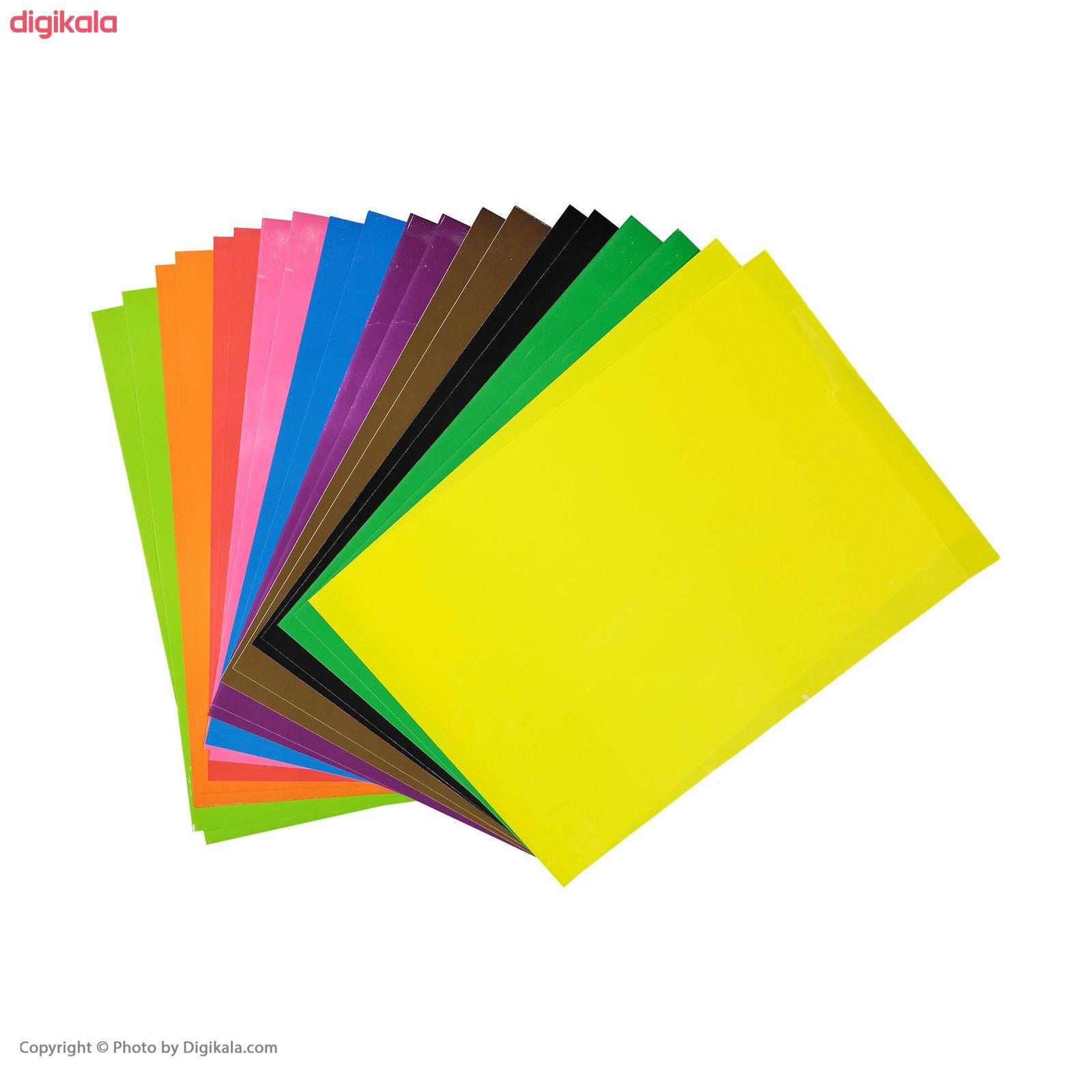 کاغذ رنگی 20 برگ ره آورد کد 05 سایز A4 main 1 6