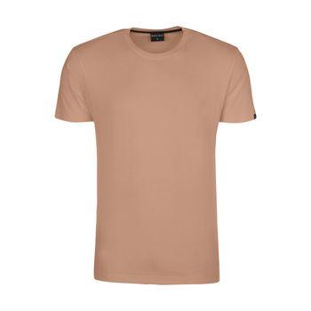 تیشرت آستین کوتاه مردانه ان سی نو مدل بیتر رنگ کالباسی