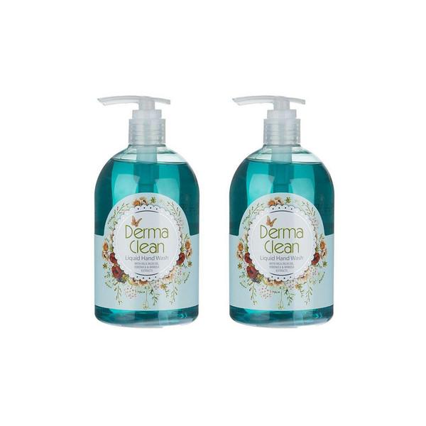 مایع دستشویی درما کلین مدل Veronica &Mimosa حجم 500 میلی لیتر مجموعه 2عددی