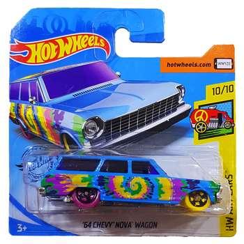 ماشین بازی هات ویلز مدل 64chevy nova wagon