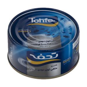 کنسرو ماهی تون دودی در روغن تحفه - 180 گرم