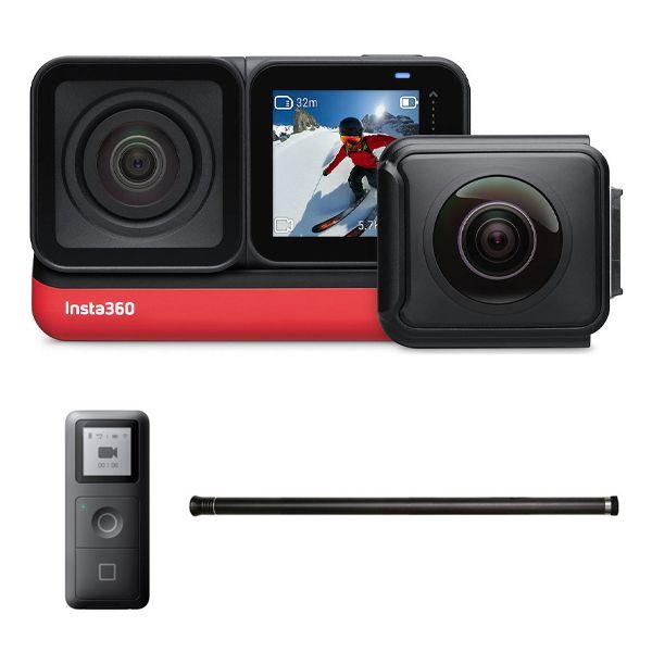 دوربین فیلم برداری اینستا 360 مدل one r twin edition به همراه منوپاد نامرئی و gps