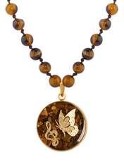 گردنبند زنانه الون طرح پروانه و سُل  کد TIG102 -  - 4