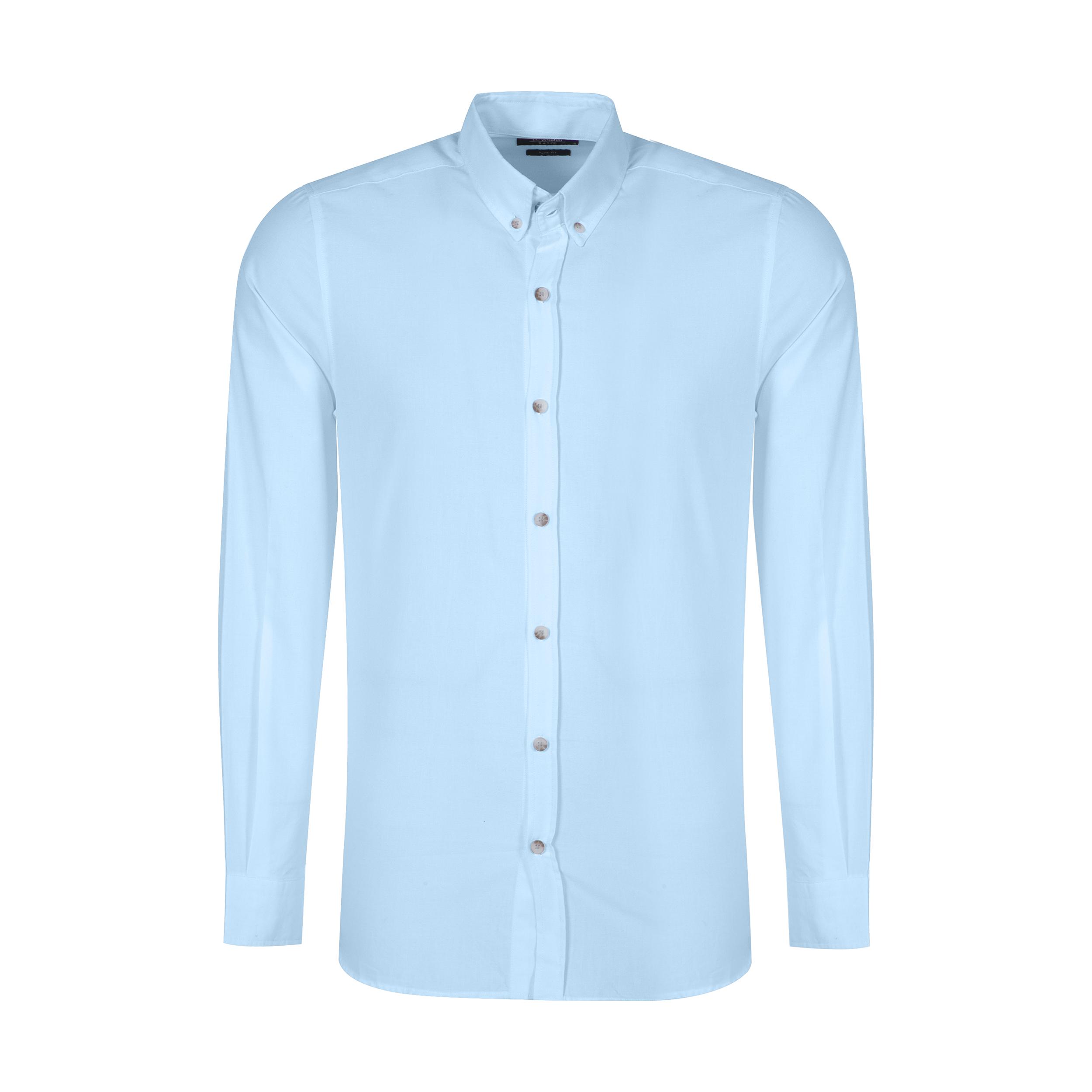 پیراهن آستین بلند مردانه ال سی وایکیکی مدل 0SA013Z8-CTU-GREEN