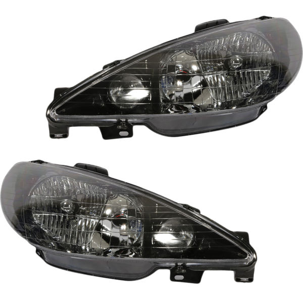 چراغ جلو خودرو مدل JT123D مناسب برای پژو 206 بسته دو عددی