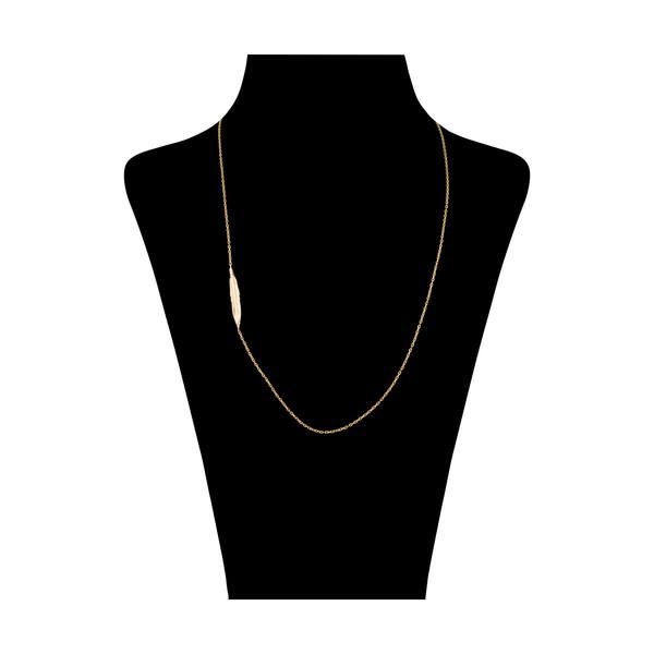 گردنبند طلا 18 عیار زنانه سنجاق مدل X081807