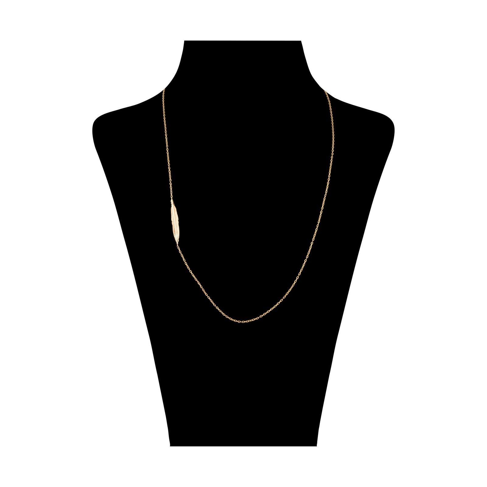 گردنبند طلا 18 عیار زنانه سنجاق مدل X081807 -  - 1