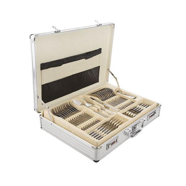 سرویس 138 پارچه قاشق و چنگال کارل اشمیت مدل C Hessen طرح جعبه آلومینیومی