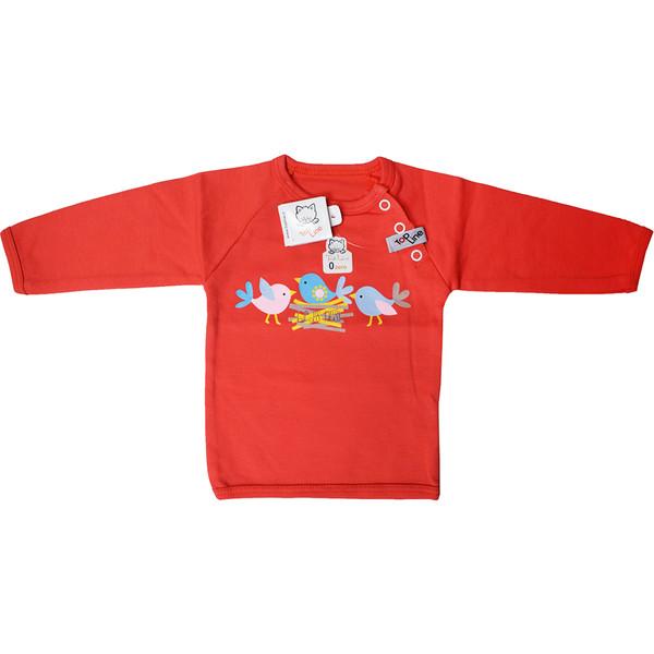 تی شرت آستین بلند نوزادی تاپ لاین طرح جوجه کد 009sj