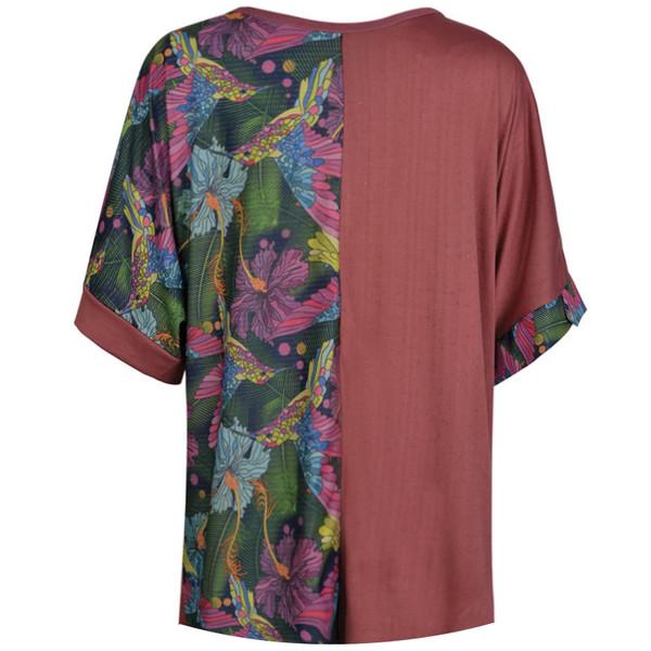 تی شرت آستین کوتاه زنانه مدل 358016150