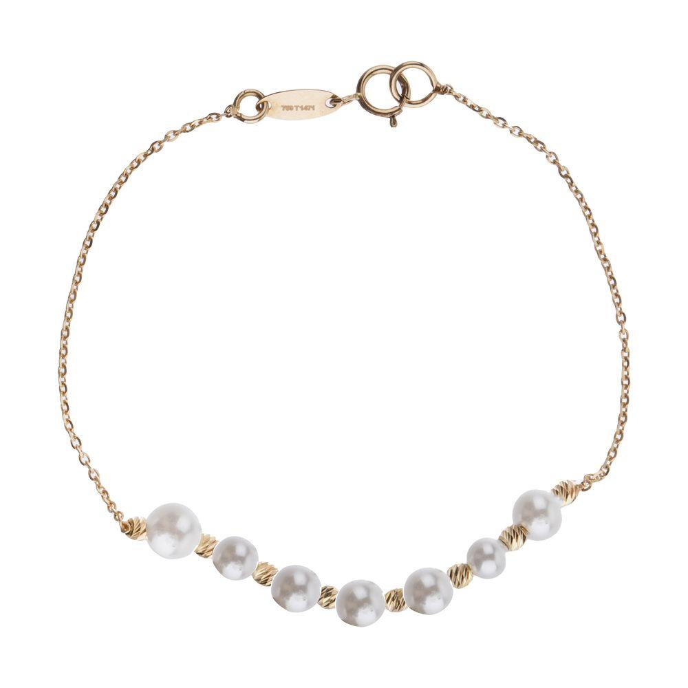 دستبند طلا 18 عیار زنانه سیودو مدل 144831