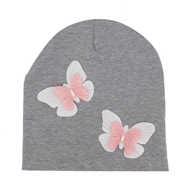 کلاه دخترانه طرح پروانه کد mp493