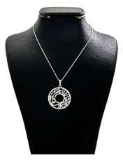 گردنبند نقره زنانه دلی جم طرح هر کجا هستم آسمان کد D 88 -  - 1