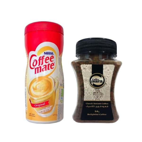 قهوه فوری - 50 گرم به همراه کافی میت نستله - 170 گرم