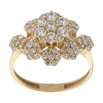 انگشتر طلا 18 عیار زنانه مایا ماهک مدل MR0429