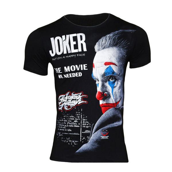 تی شرت پسرانه طرح جوکر کد 60