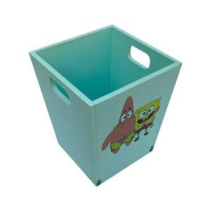 سطل زباله اتاق کودک  مدل باب اسفنجی