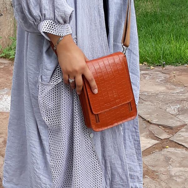 کیف دوشی زنانه چرم آنیل مدل Setiya