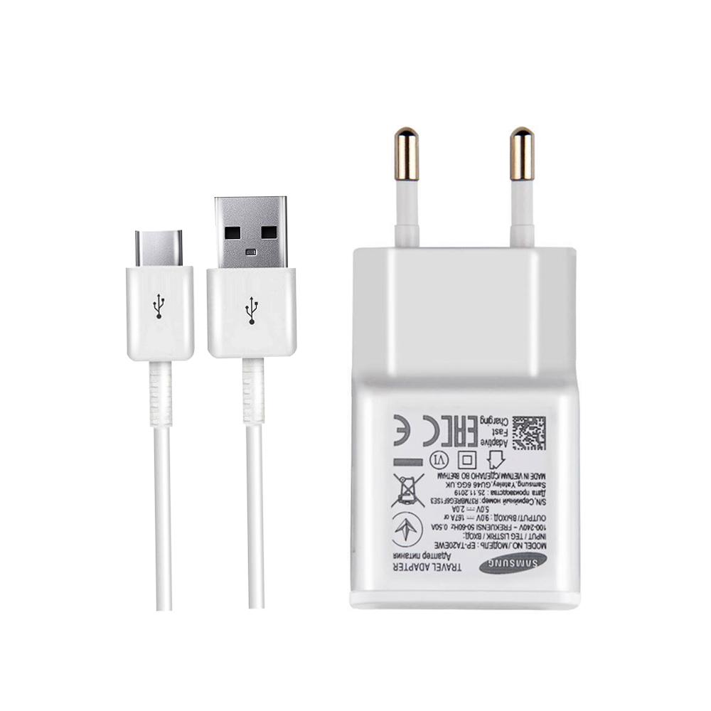 خرید ارزان شارژر دیواری سامسونگ مدل EP-TA20EWE به همراه کابل تبدیل USB-C