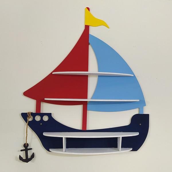 شلف دیواری اتاق کودک مدل کشتی