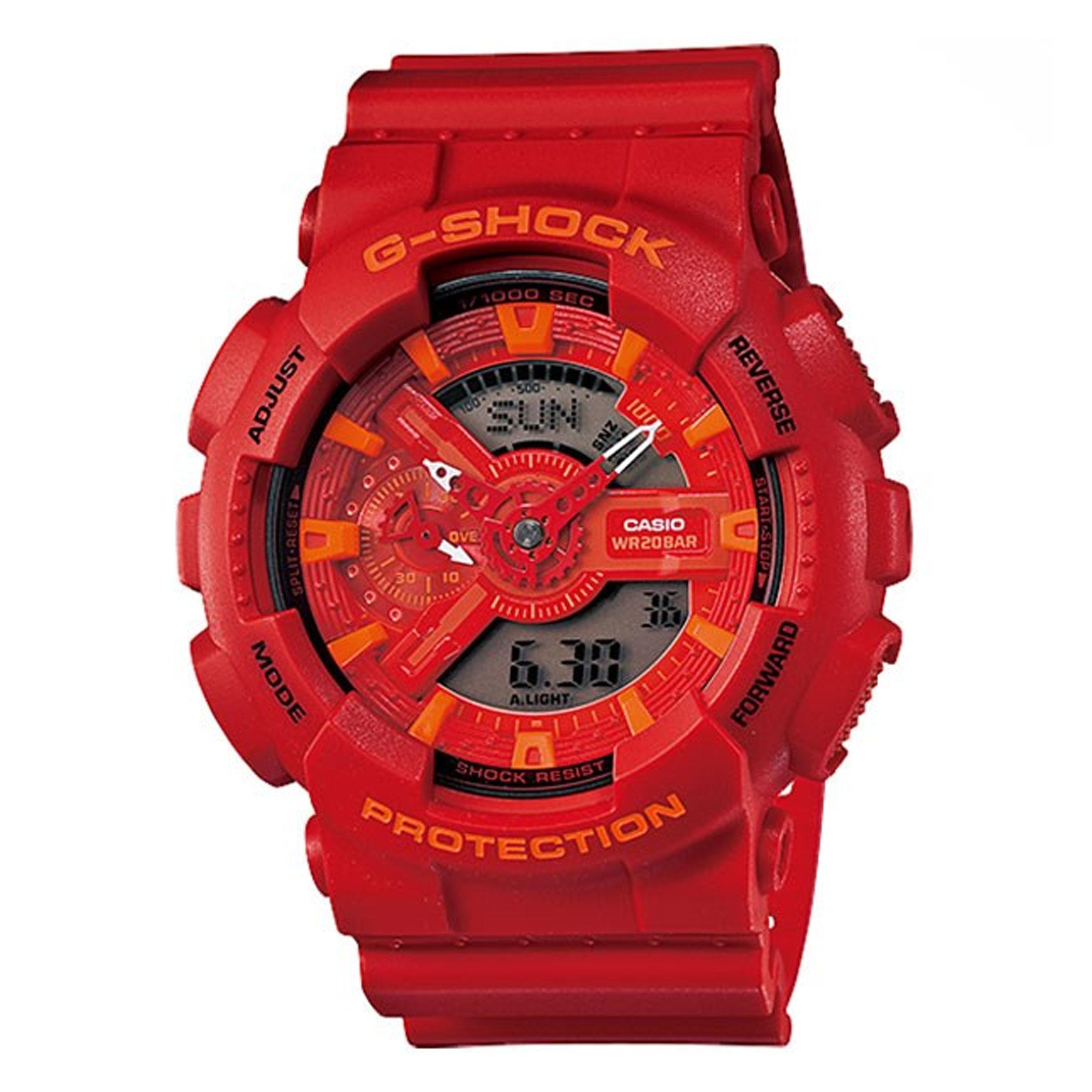 ساعت مچی عقربه ای مردانه کاسیو سری جی شاک مدل GA-110AC-4ADR              خرید (⭐️⭐️⭐️)