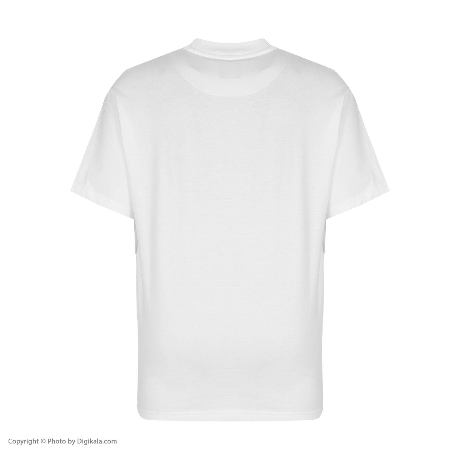 تیشرت آستین کوتاه مردانه گری مدل H20 -  - 3