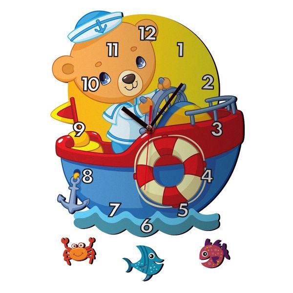 ساعت دیواری کودک ژیوار طرح کشتی کد 48