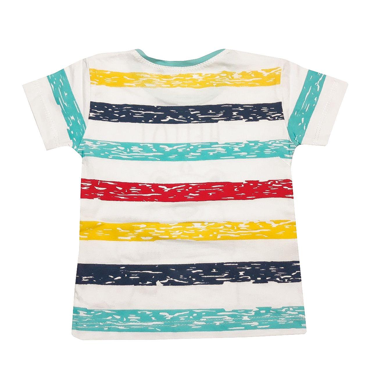 ست تی شرت و شلوارک پسرانه کد A -  - 3