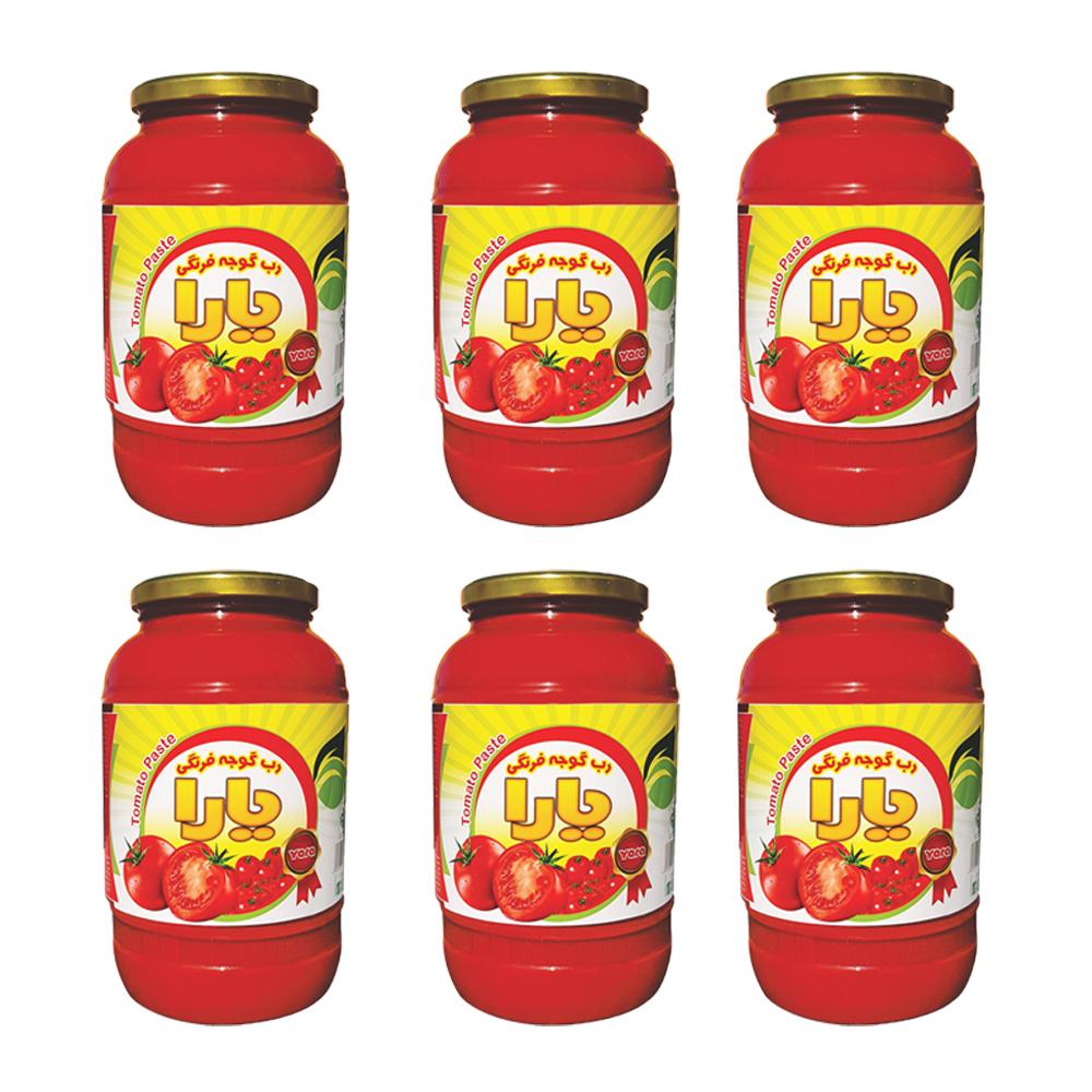 رب گوجه فرنگی یارا - 1500 گرم مجموعه 6 عددی
