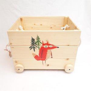جعبه اسباب بازی کودک مدل چوبی