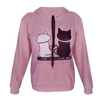 هودی زنانه طرح دو گربه کد 03