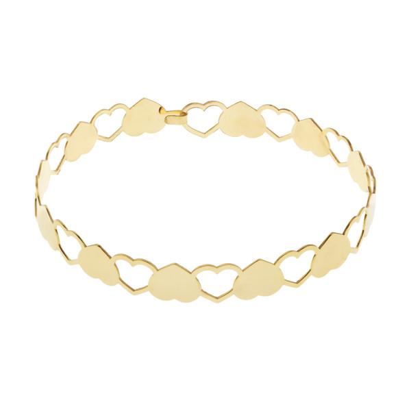 دستبند طلا 18 عیار زنانه کانیار گالری مدل B33