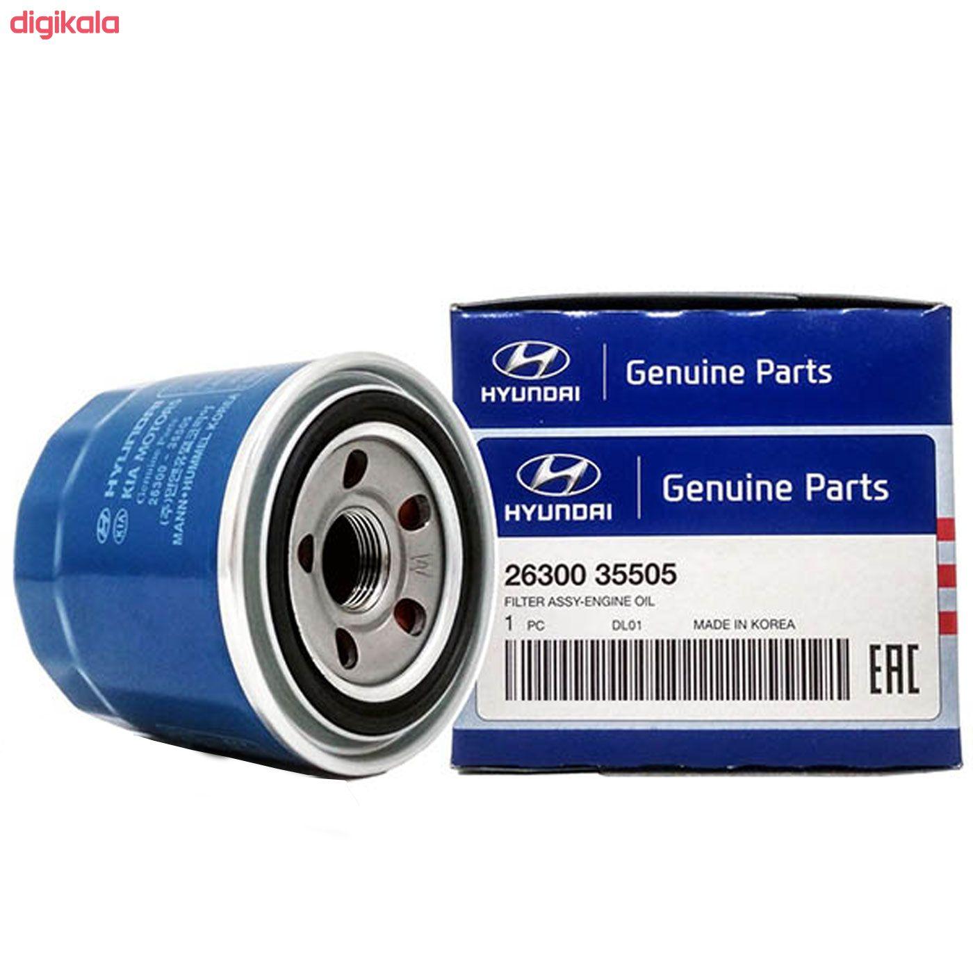 فیلتر روغن خودرو هیوندای جنیون پارتس مدل 35505 مناسب برای هیوندای اکسنت main 1 1