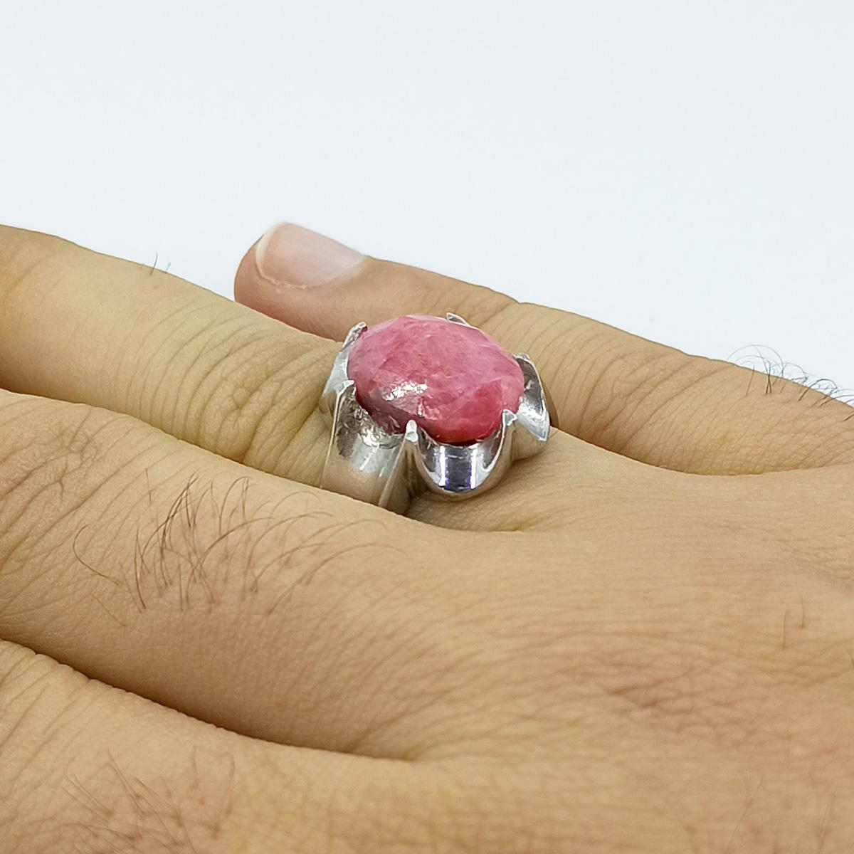 انگشتر نقره مردانه سلین کالا مدل یاقوت سرخ کد ce-As9